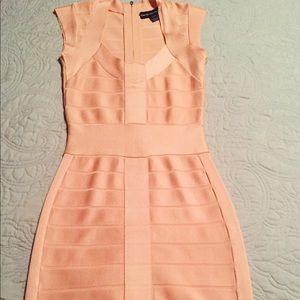 French connection blush mini dress